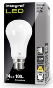Dimmable 100W Equivalent LED Bulb | 14W Bayonet B22 | INTEGRAL